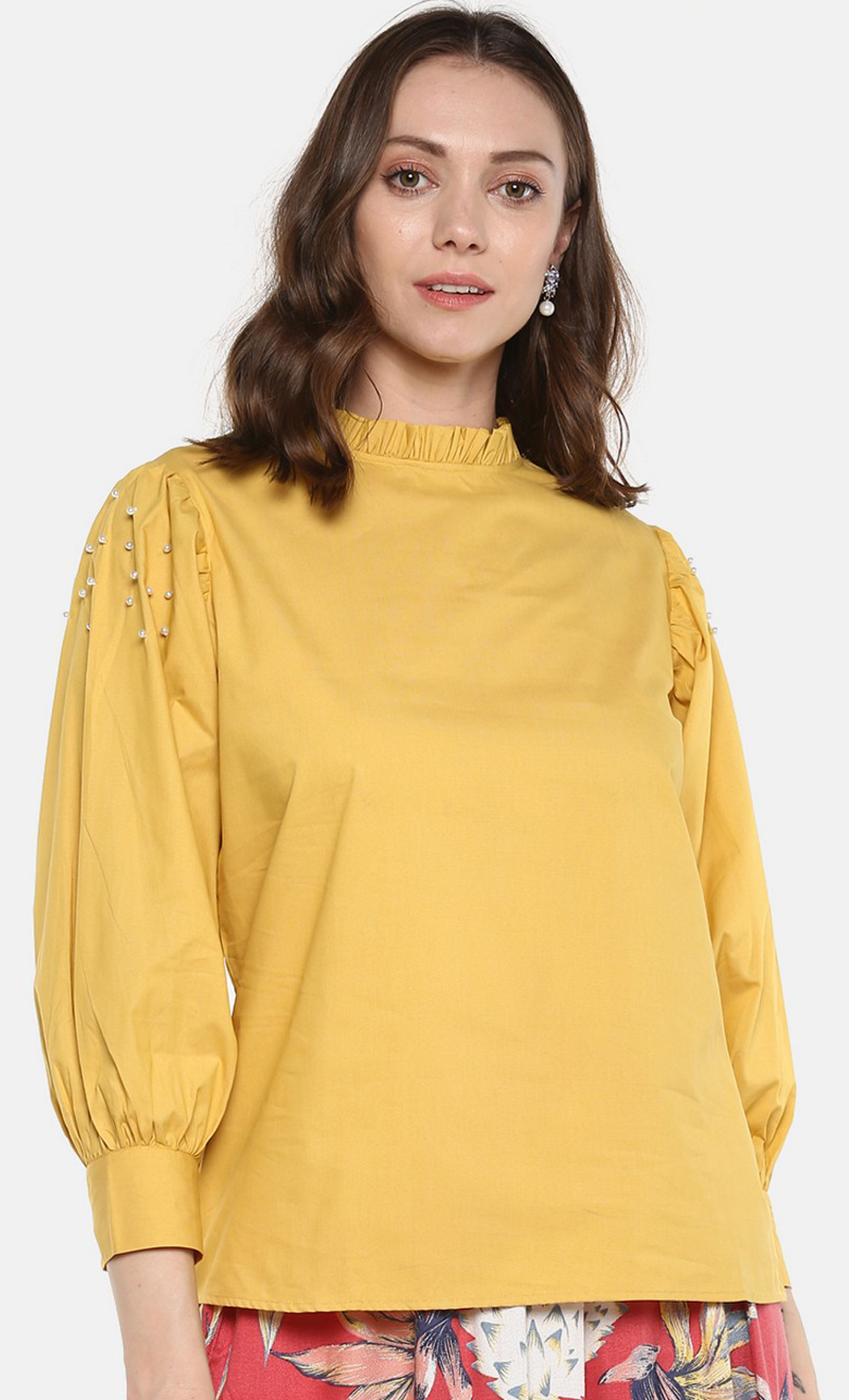 Yellow Wonders and Whims Beaded Top. Buy Online