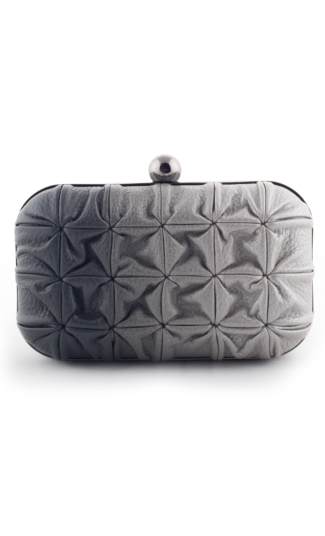 Blend Square Weave Box Clutch in Grey-Silver. Buy Online