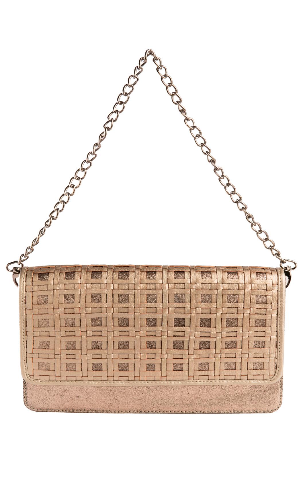 Check Weave Shoulder Bag in Gunmetal. Buy Online