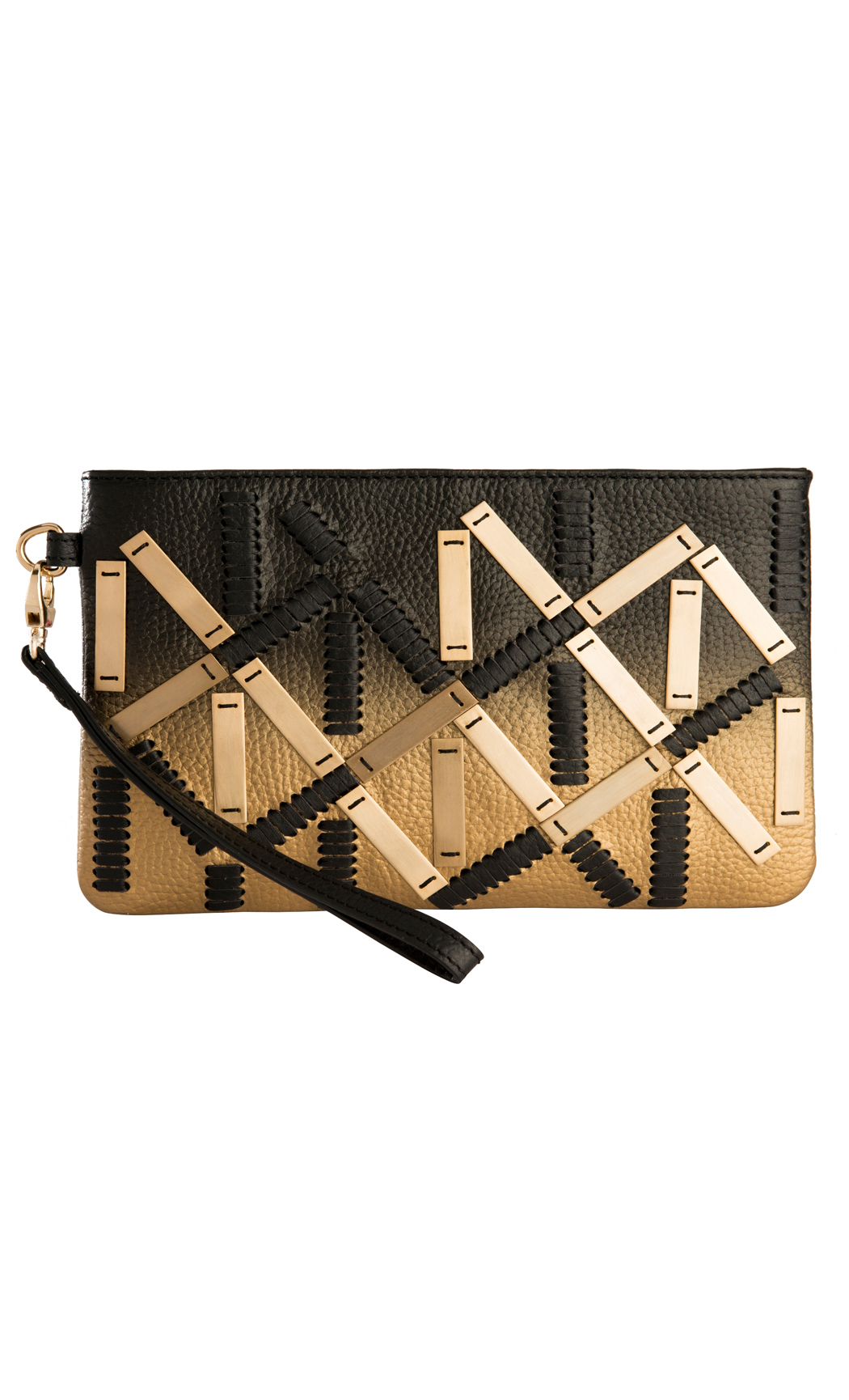 Symphony and Symmetry With Rectangular Fittings in Gold-Black. Buy Online