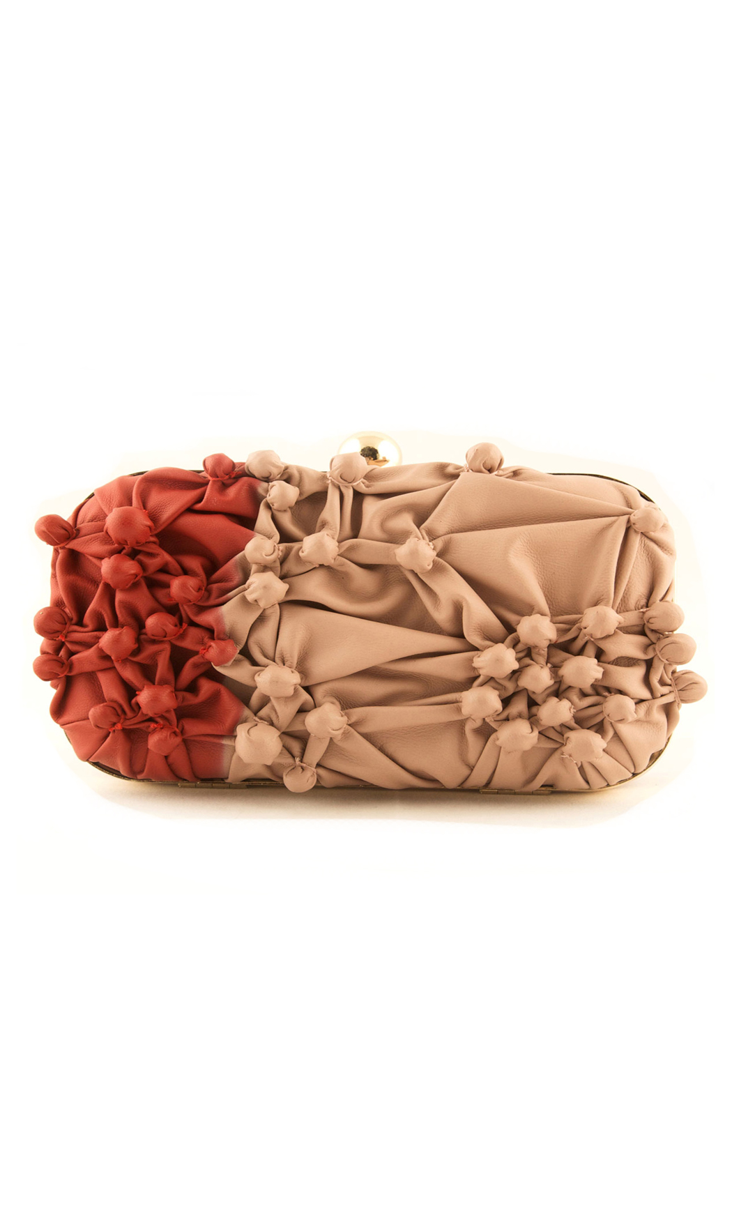 Bubbling Over Box Clutch in Shaded Red. Buy Online