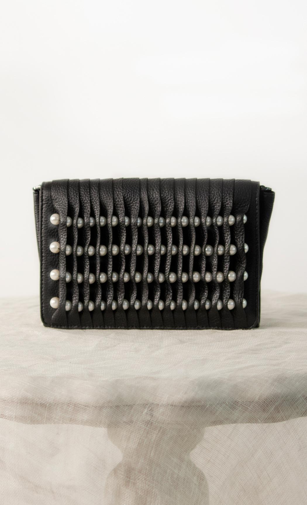 Pearls Clutch in Black. Buy Online