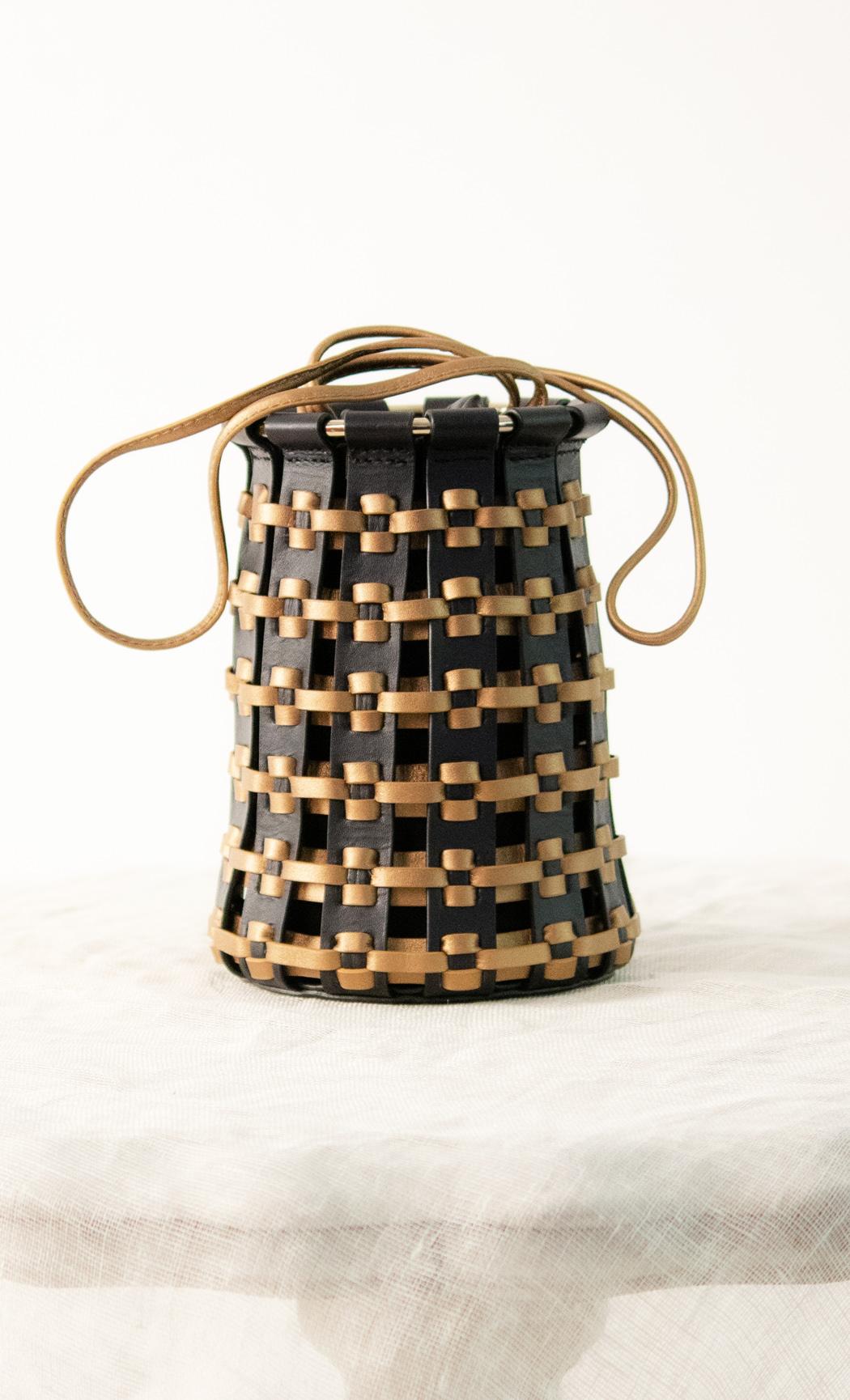 Lantern Potli in Gold-Black. Buy Online