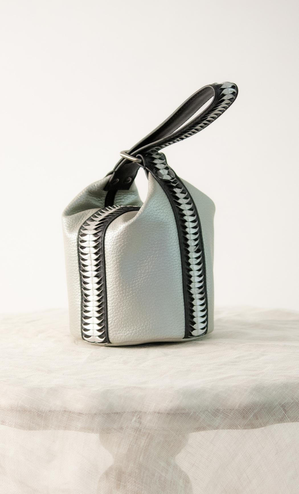 Twisted Potli in Silver-Black. Buy Online