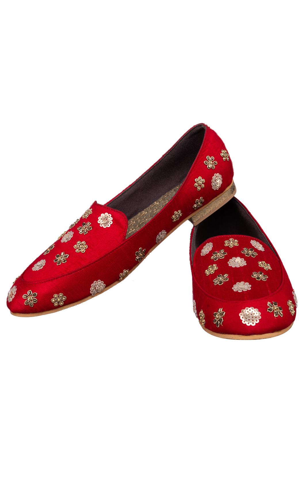 Maroon Noor Loafers - Buy Online