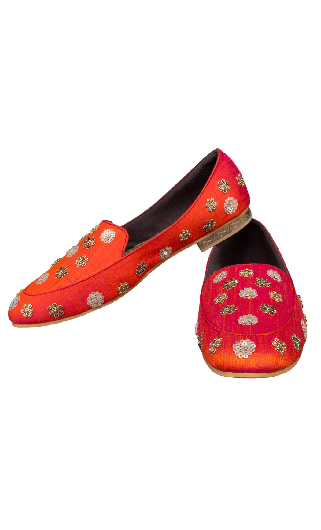 Orange Noor Loafers - Buy Online