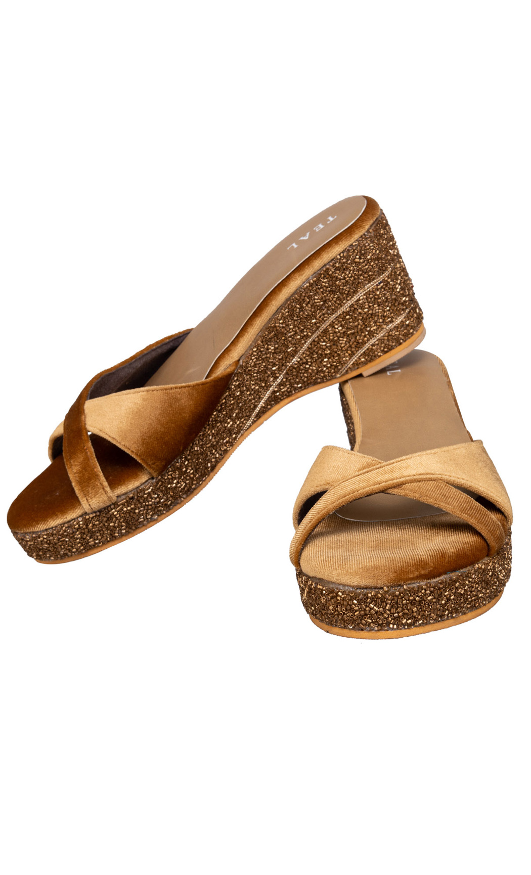 Gold Luxe Wedges - Buy Online