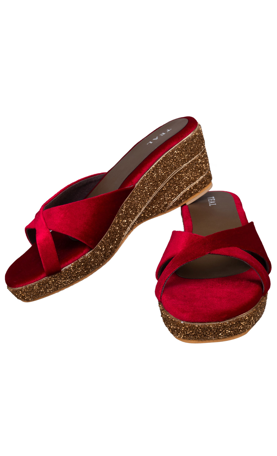 Red Luxe Wedges - Buy Online