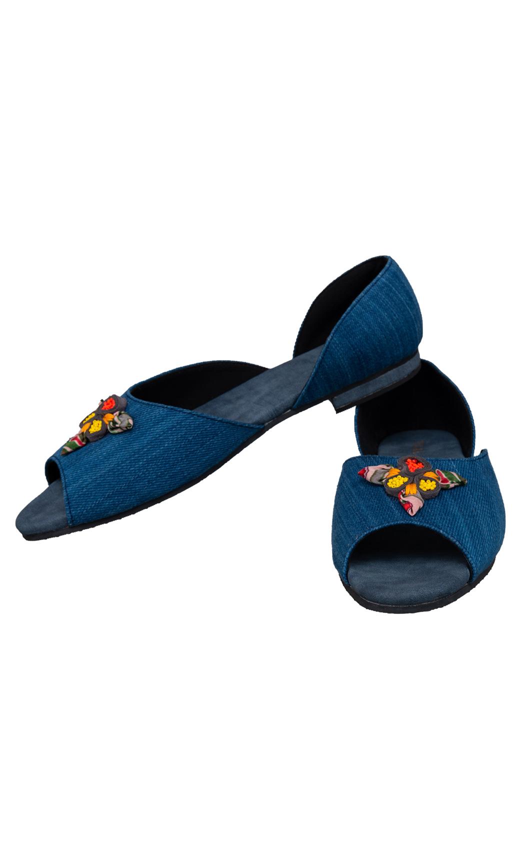 Blue Rosette Ballerinas - Buy Online