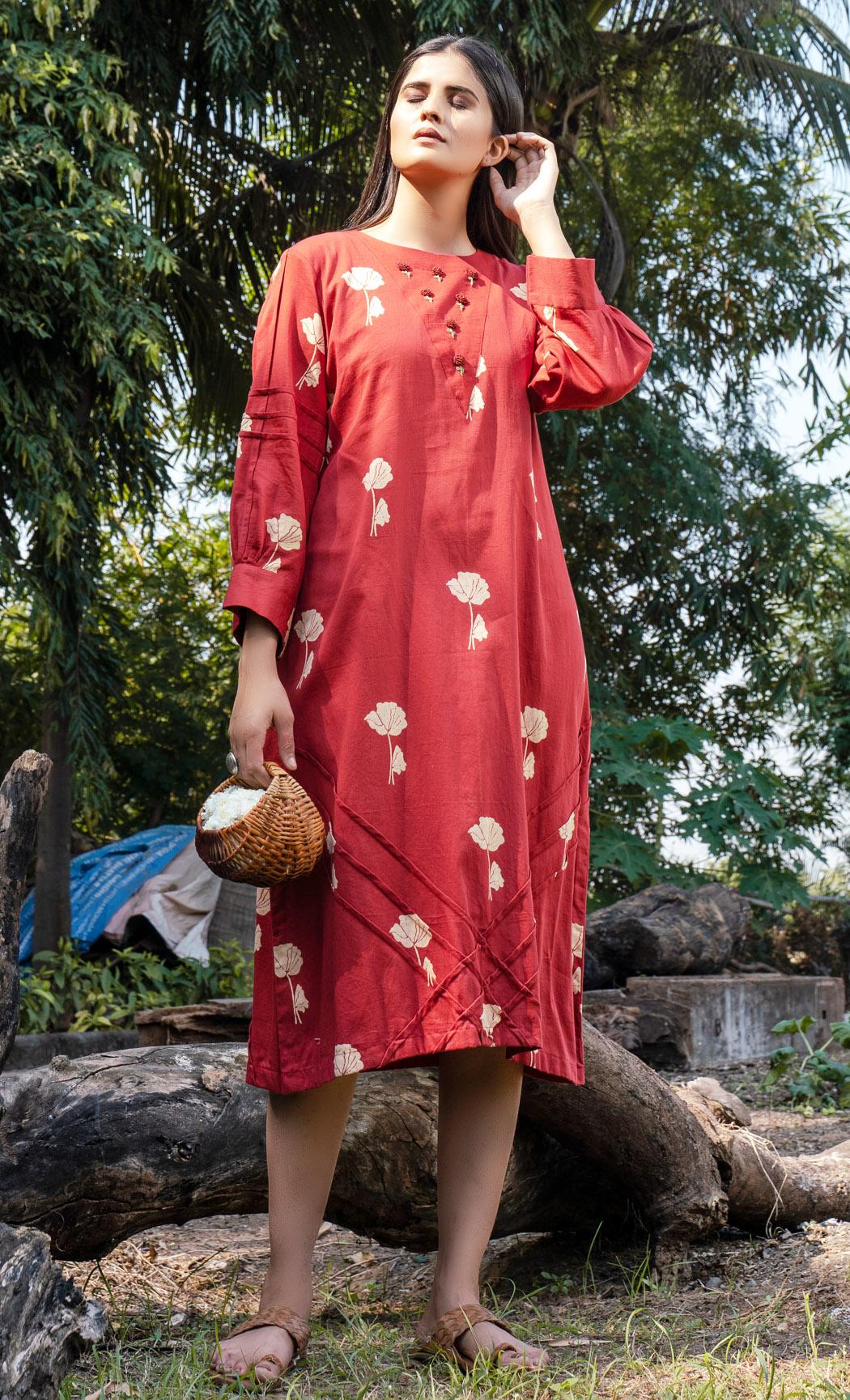 Red Brunch Dress. Buy Online