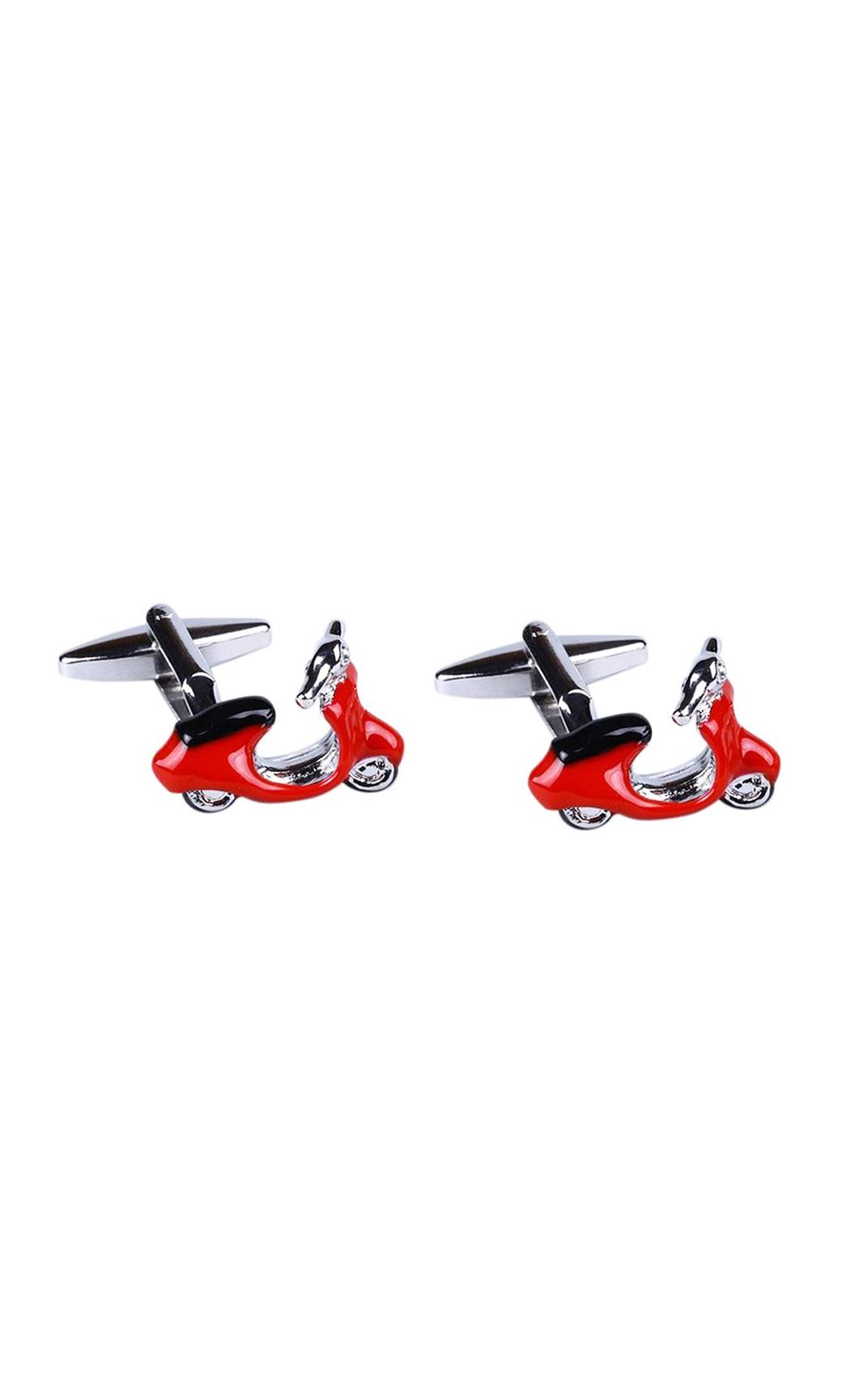 Rosette Metallic Red Scooter Cufflink. Buy Online