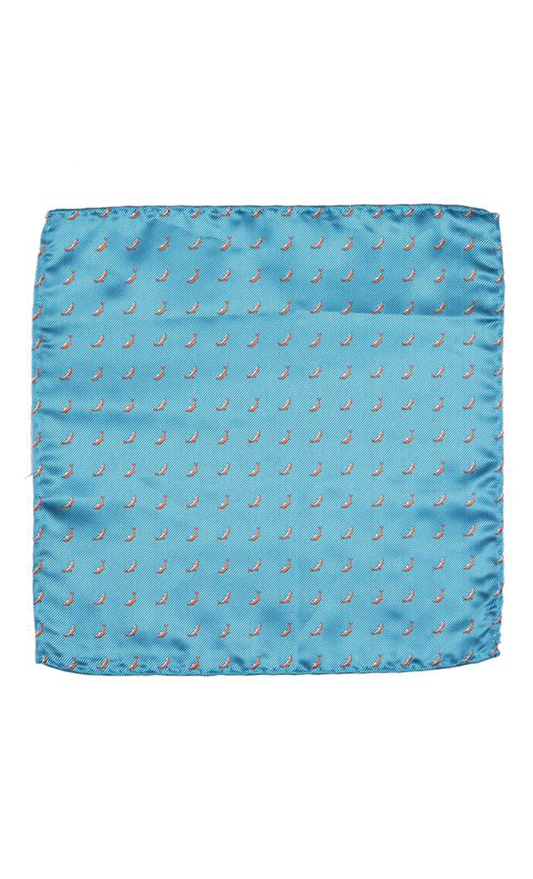 Turquoise Dolphin Woven Pocket Square. Buy Online