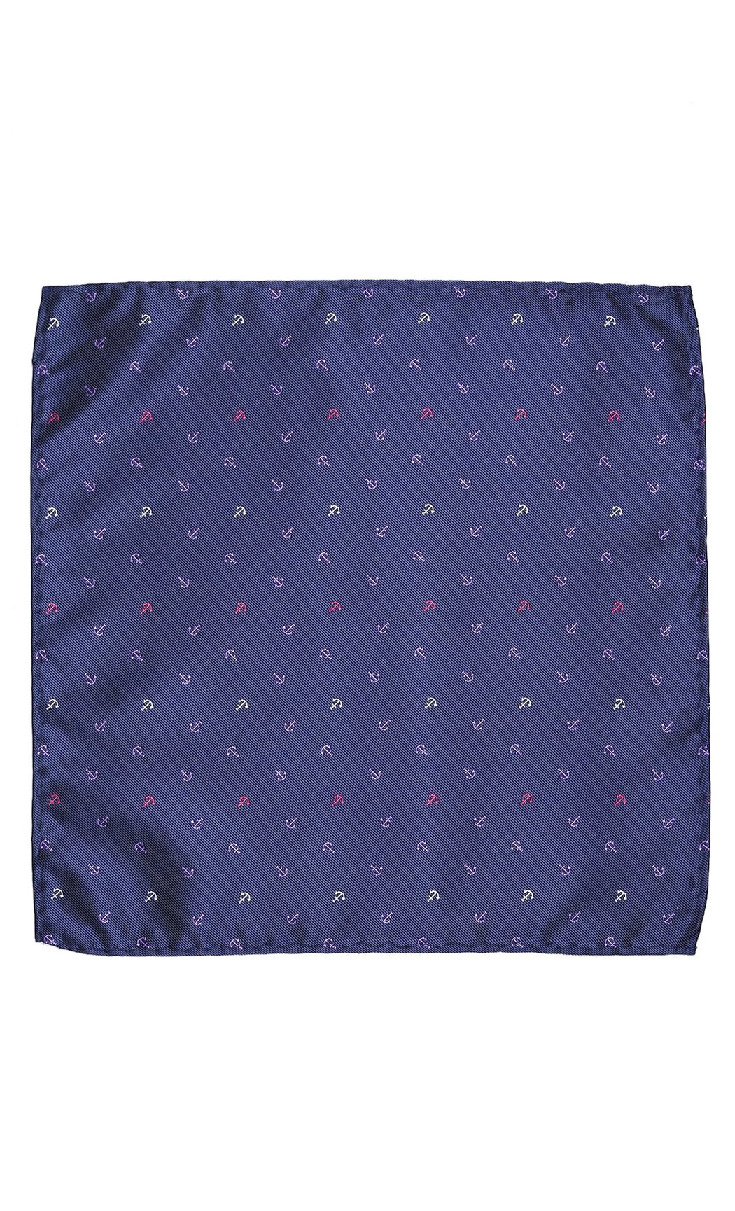 Blue Anchor Woven Pocket Square. Buy Online