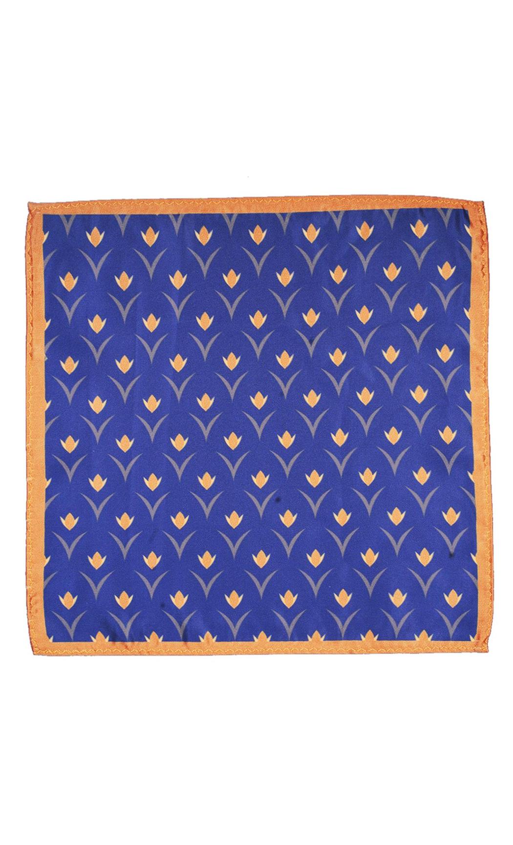 Blue Floral Printed Pocket Square. Buy Online