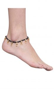 Gold Kundan and Pearl Beaded Studded Anklets. Buy Online