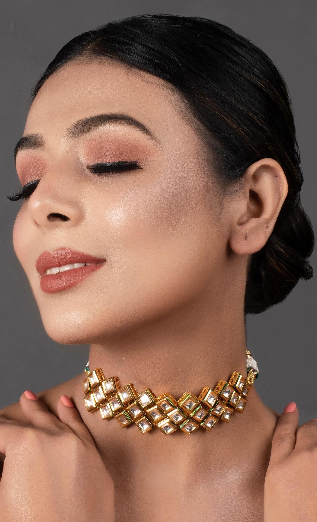 Gold Kundan Choker. Buy Online