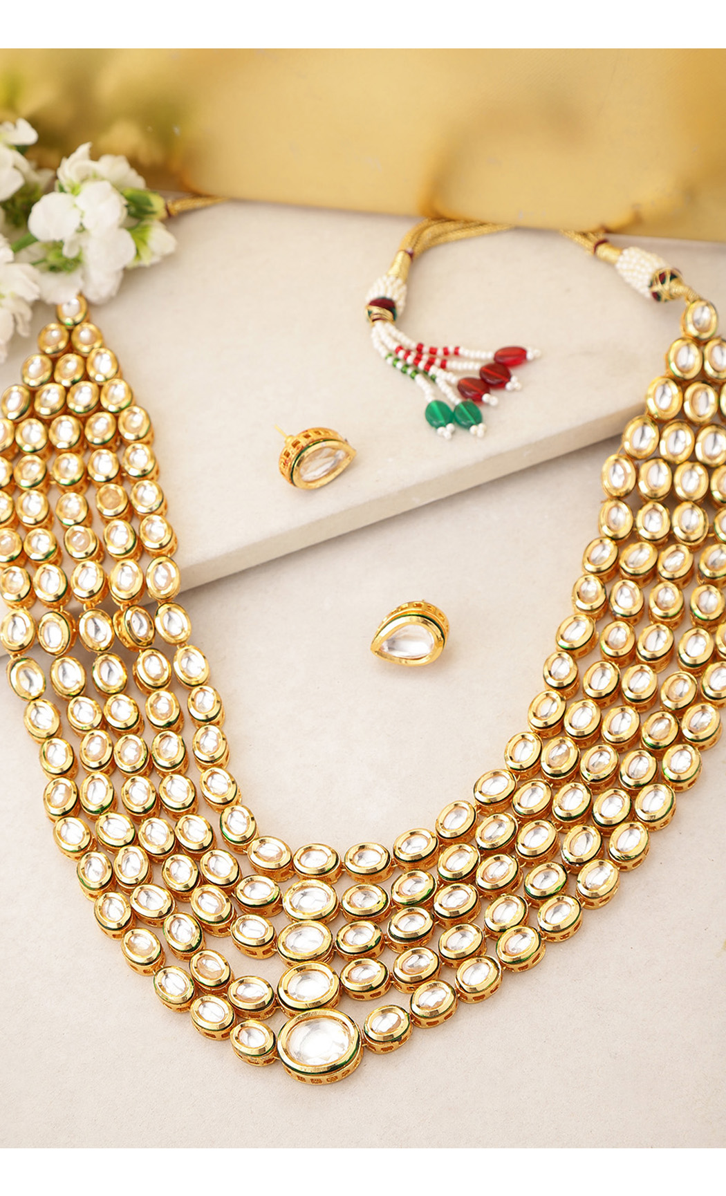 Royal Kundan-Studded Necklace Set. Buy Online