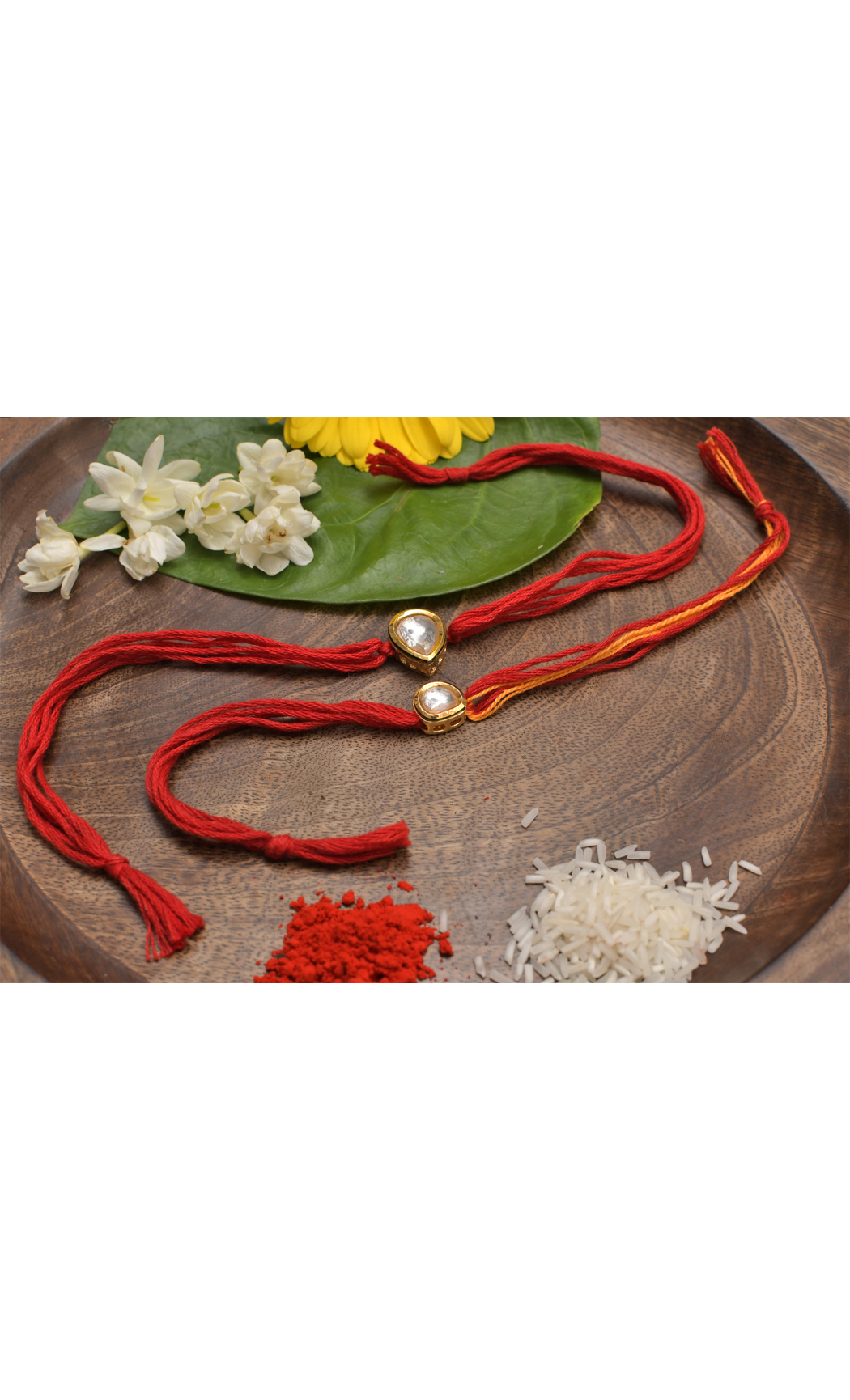 Handmade Kundan and Pearl Rakhi- Set of 2. Buy Online