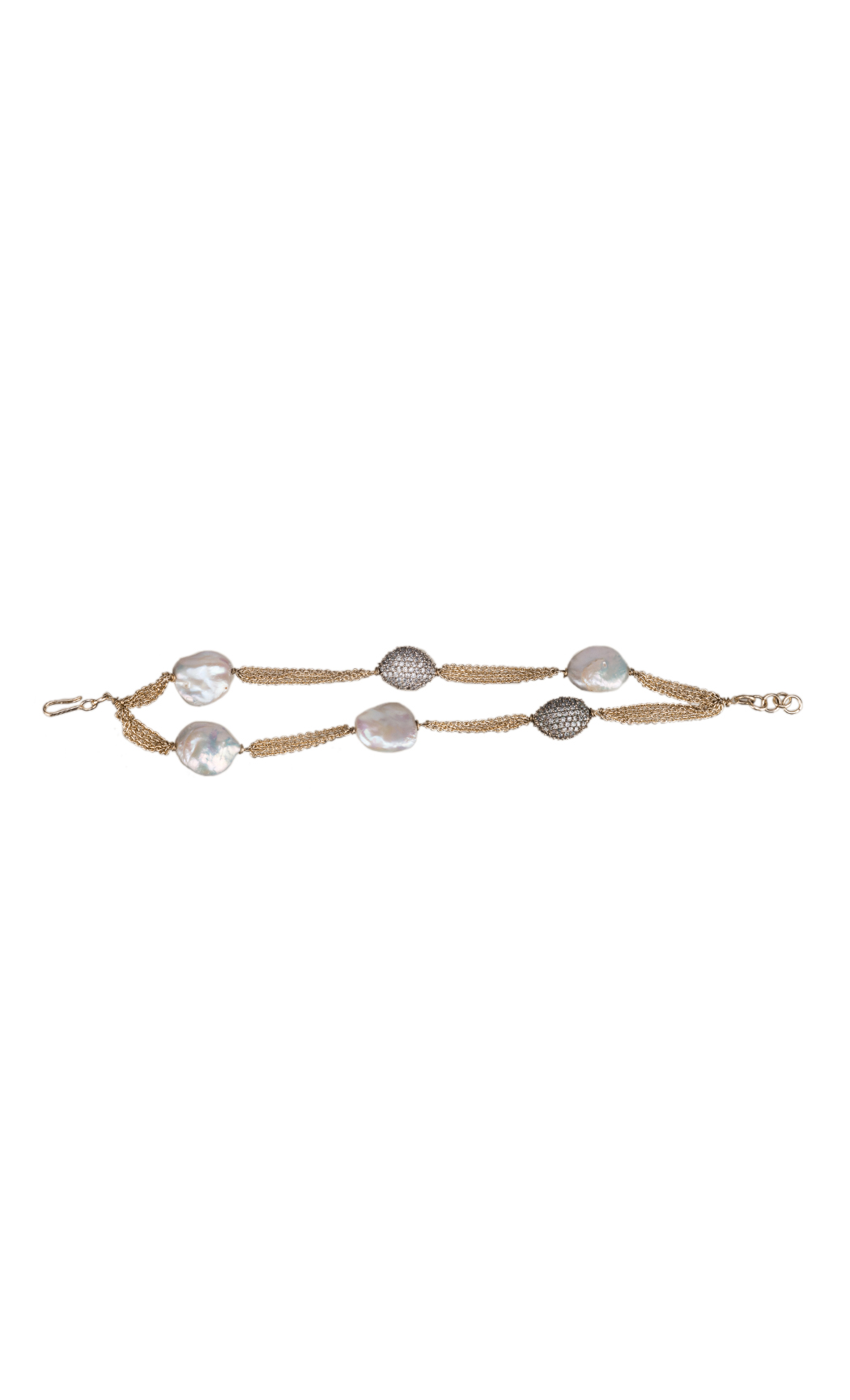 Setting Ball and Pearl Chain Bracelet
