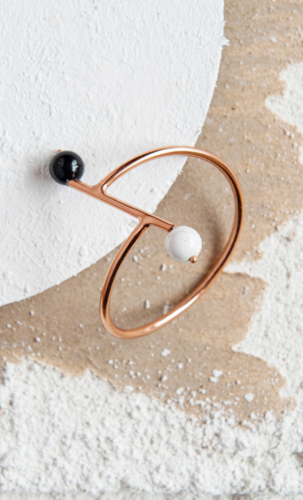 Black Onyx and Howlite Duo Ball Cuff Bracelet - Buy Now.