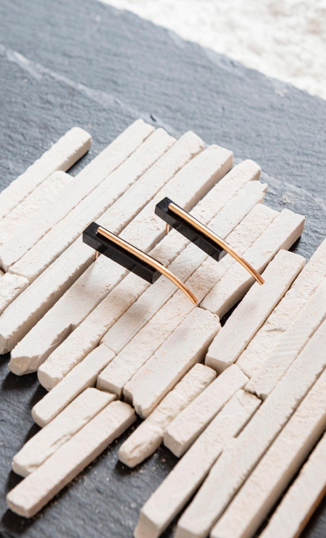 Black Onyx Brick Bali Earrings - Buy Now.