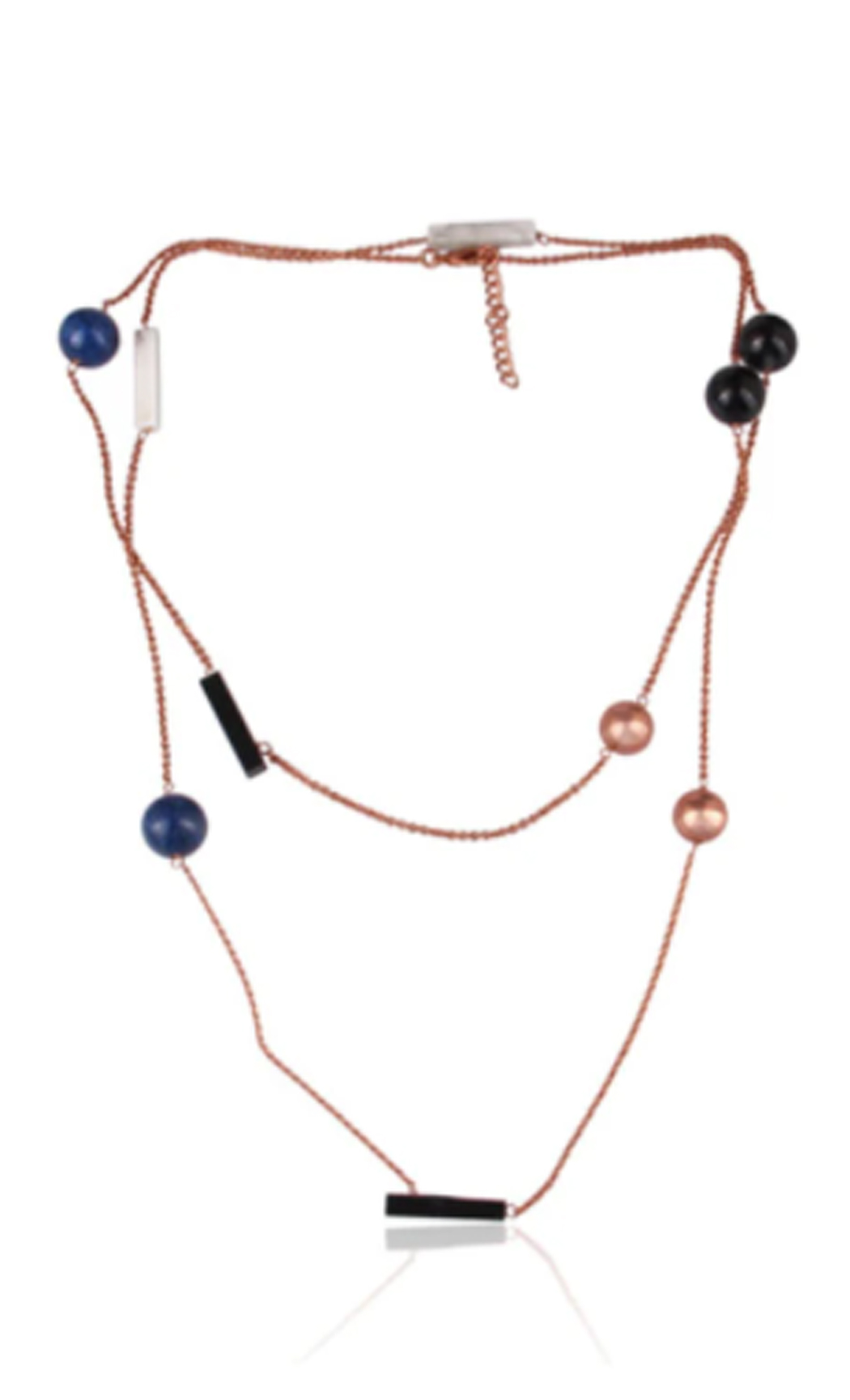 Extra Long Multi-Coloured Necklace - Buy Now.