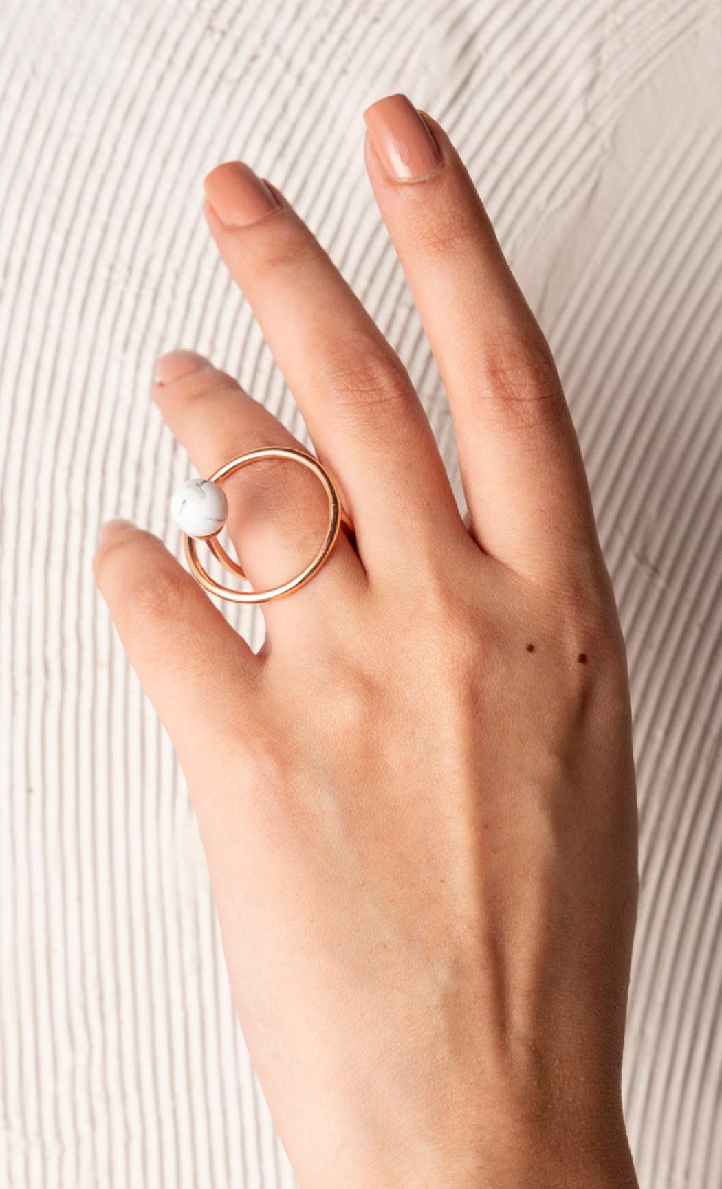 Orbital Howlite Ring - Buy Now.